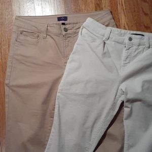Nydj & Talbots 10p petite pants beige